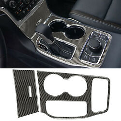 For Jeep Grand Cherokee Carbon Fiber Gear Shift Cup Holder Panel Cover 2016-2020 $35.99
