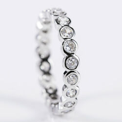 Adorable 925 Silver Jewelry Round Cut White Sapphire Wedding Ring Size 6-10