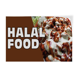 Halal Food Indoor Store Sign Vinyl Decal Sticker $15.99
