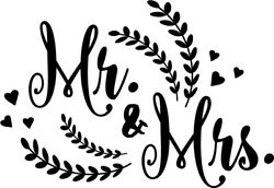 Mr. and Mrs. vinyl decal sticker pinterest words lettering $3.74
