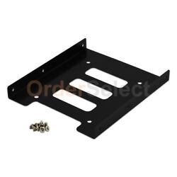 2.5quot; SSD HDD to 3.5quot; Mounting Adapter Bracket Tray Dock for PC SSD Holder ATX $3.99