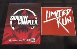 Shadow Complex Remastered Limited Run Games Post Card + Sticker - Rare