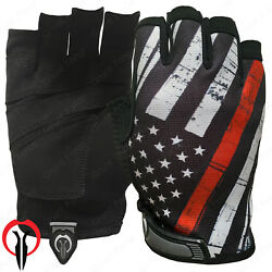 Industrious Handwear Black Fingerless Thin Red Line Gloves ½ Finger TRL Gloves $24.99