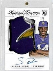 2015 National Treasures Hats Off Stefon Diggs 4 Clr Logo Auto Rc # to 6 $299.95