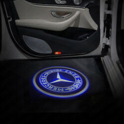 2For Mercedes-Benz S-Class 06-13 Laser LED Door Courtesy Shadow Projector Light
