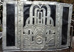 Large Copper Repousse Architectural Art Deco Panel from building in New York