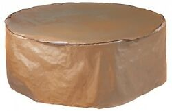 Abba Patio Outdoor Round Table And Chair Set Cover Porch Furniture Cover Brown