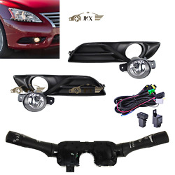 Lens Fog Lamp amp;Switchamp;Wiring Harness Kit j for Nissan Sentra Sylphy 2013 2015 $115.00