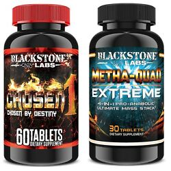 Blackstone Labs Metha Quad Extreme 4 in 1 Ultimate Mass Stack & Chosen 1