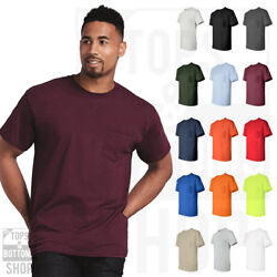Gildan Mens Ultra Cotton T Shirt with Pocket Tee Crewneck T Shirt S 5XL 2300 $11.99