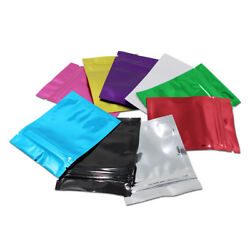 Glossy Flat Zip Lock Aluminum Foil Bags Seal Packages Mylar Food Storage Pouches