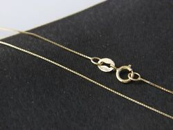 Real 14Kt yellow Gold thin BOX Chain Necklace Real 14k Solid gold  $42.77