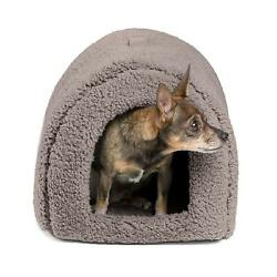 Best Friends by Sheri Pet Igloo Hut Sherpa Gray - Cat and Small Dog Bed Offers