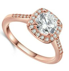 Made with Swarovski Crystals Pave Open Ring 14K Rose Gold ITALY MADE