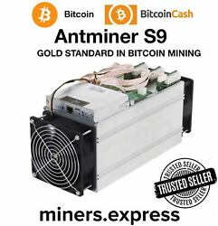 Bitmain Antminer S9 13.5T Bitcoin ASIC Miner with APW3++ PSU (Brand New Stock)