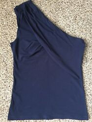 NWT MNG by Mango navy blue summer woman top size S $12.00