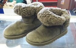 UGG Women#x27;s Boots Mini Bailey Grey Size 5. Some stains and tears see photos $14.92