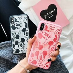 Cute for iPhone 12 11 Pro Max Xs Cartoon Cartoon Lovely Mouse Case Leather Cover