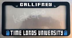 Gallifrey Time Lords University DR WHO FANS Glossy Black License Plate Frame