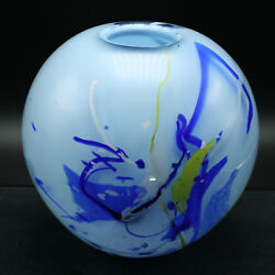 Handcrafted Swedish Glass Vase - Round One-of-a-Kind by Willy Andersson