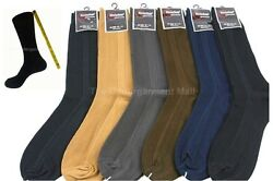 Mens Dress Socks 6 Pairs Lot Ribbed Crew Style Casual Fashion Size 9 11 10 13 $8.94