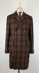 New BELVEST Brown Cashmere Double Breasted Full Length Coat 5040 R Drop 8 $3595