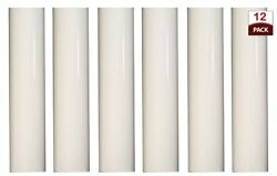 set of 12 6 inch tall white plastic candle covers sleeves chandelier socket $14.71