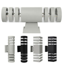Modern LED Up Down Wall Light Sconce Dual Head Lamp Fixtures Outdoor Waterproof $23.89