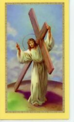 CROSS IN MY POCKET Laminated Holy Cards. QUANTITY 25 CARDS $12.99