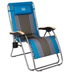 Outdoor Zero Gravity Patio Lounge Chair Oversize XL Padded Adjustable Recliner