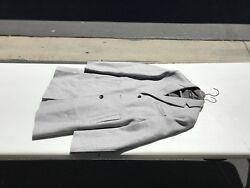Hugo Boss Mens Cashmere & Wool Gray Coat Rare Colombo Edition! Woven In Italy!