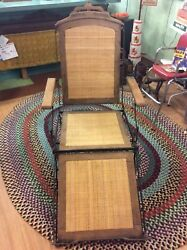 MARKS A.F. CHAIR CO. ANTIQUE RARE FOLDING CHAIR PAT. 1876 LOUNGE