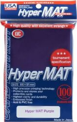 Hyper Mat Sleeves 100ct Purple KMC GAMING SUPPLY BRAND NEW ABUGames $10.99
