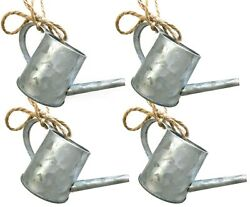 Country Mini Watering Can Galvanized Metal Christmas Tree Ornament Farmhouse R $3.99