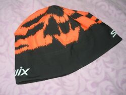 Swix Beanie Biathlon Norway Orange Black Cross Ski Winter GSG group 58cm Large $35.00
