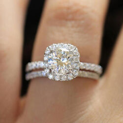Fashion 925 Silver Filled Rings for Women White Sapphire Wedding Ring Size 6-10