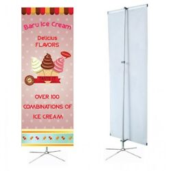 Banner Stand adjustable Cross Base 23.5quot; wide 63quot; tall travel bag trade show $28.99
