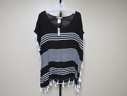 NWT Camp;T Beach Womens Beach Cover Ups Color Black White Size XL MSRP $58.00 $15.29