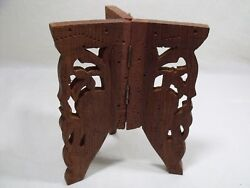 Wooden Carved Display Stand Hinged Tripod