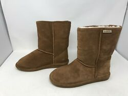 Womens Bearpaw 608W Emma Short Suede Brown Boots 430o m $29.00