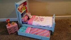 American Girl Bouquet Trundle Bed Set with Bedding and Nightstand $319.95