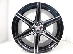 17x8 5x114.3 Custom Wheels Rims - Set of 4 - Machine Black