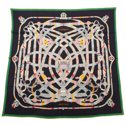 Hermes Carre 140 Shawl Stole Scarf Cavalcadour Cashmere Silk Woman Luxury Auth