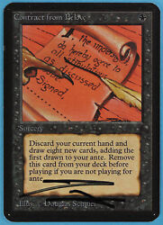 Contract from Below Alpha NM-M Reserved List Signed CARD (ID# 28582) ABUGames