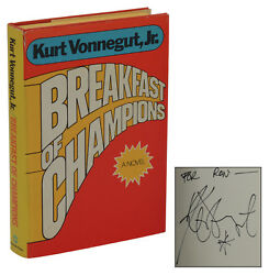 Breakfast of Champions ~ SIGNED by KURT VONNEGUT ~ First Edition 1st Print 1973