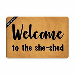 Ruiyida Welcome to The She Shed Doormat Custom Home Living Decor Housewares Rugs