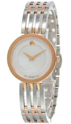 Movado Esperanza White Mother of Pearl Dial 28MM Stainless Ladies Watch 0607114 $597.50