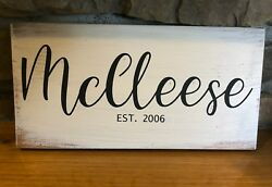 Custom signs wedding gift wood sign primitive home decor country chic chicken $12.99