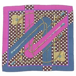 Hermes Shawl Stole Scarf Clic Clac Cashmere Silk Carre 140 NWIB Woman Auth New