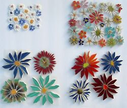 Small & Large Colorful FlowersVariations Broken China Mosaic Tiles